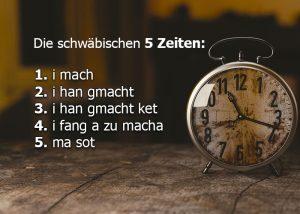 Die schwäbischen 5 Zeitformen Beitragsbild Loquenz