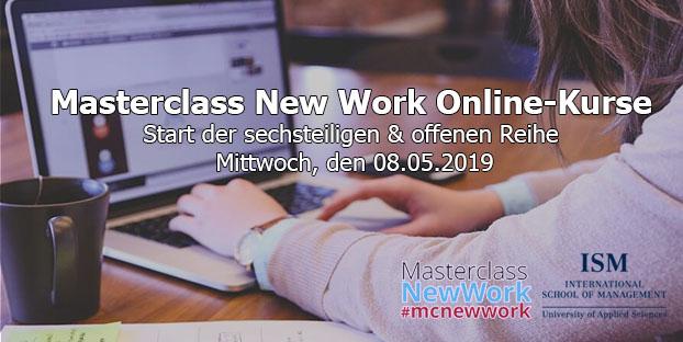 Masterclass New Work Online-Kurse ab dem 08.Mai 2019 Veranstaltungsempfehlung