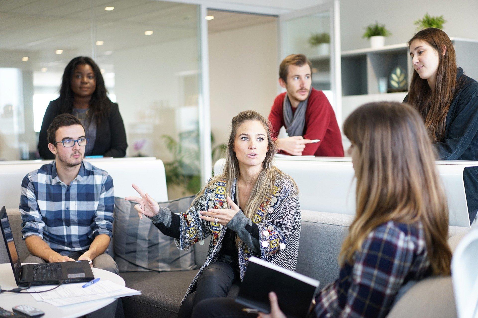 Führungskraft und ihrer Kommunikation -Meeting